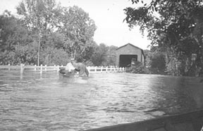 June 1947 Flood Over Dike