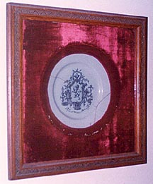 Framed in red plush in comparativly recent years.